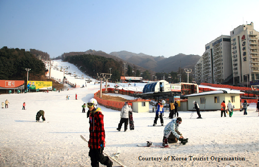 Bears Town Ski resort, Korea